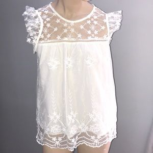 New without tags romantic lace summer blouse sz M